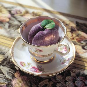Marzipan in teacup for Sweet Greetings
